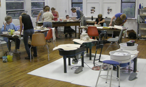 Inside the new art studio at the Szilagyi Center