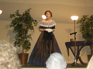 JoAnn Peterson presenting her History Alive! portrayal of Jenny Lind